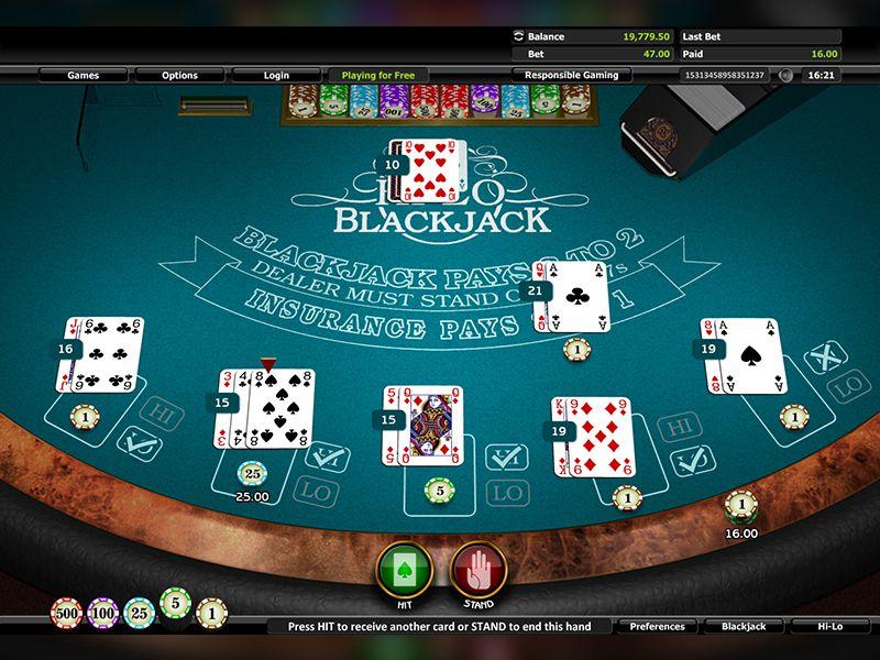 طاولة البلاك جاك - 36464